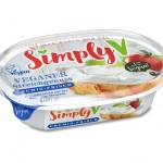 crema de almendras como el queso fresco para untar de la marca simply