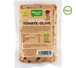 Tofu de Vantastic Foods con aceitunas y tomate