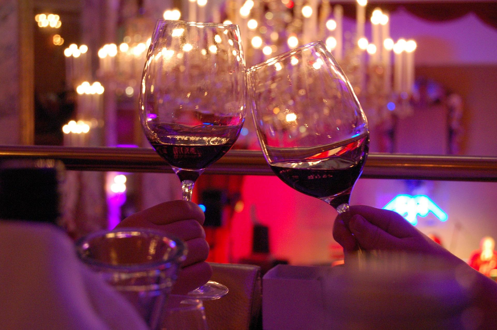 celebrar con vino