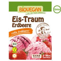 helado de fresa ecológico biovegan