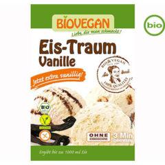 Helado ecológico y vegano de vainilla