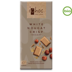 Chocolate blanco con avellanas crocante iChoc