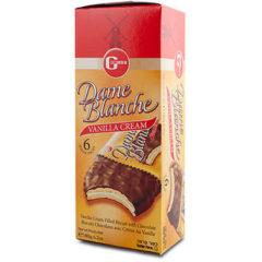 Galletas veganas bañadas de chocolate y rellenas de vainilla