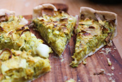 quiche vegana con omelet de Terra Vegane