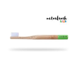 cepillo de dientes para niños de naturbrush verde