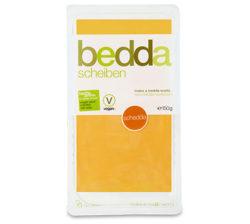 Lonchas de bedda, sustituto vegano del queso estilo chedar
