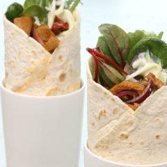 wrap con kebab vegano