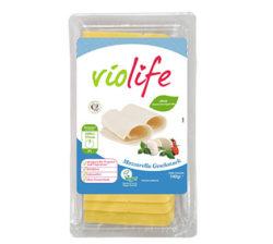 Lonchas de queso vegano sabor mozzarella de violife