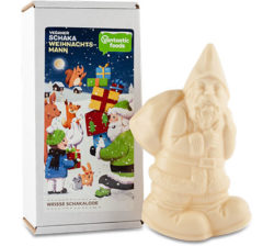 santa claus de chocolate blanco