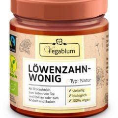 Vegablum, miel vegana, viel, diente de león
