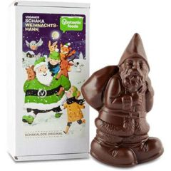 santa claus de chocolate vegano