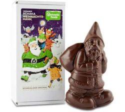 santa claus de chocolate vegano