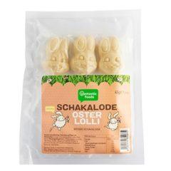 Conejos de chocolate blanco en piruletas 3 uds