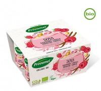 Yogur de Soja con Frambuesa y Vainilla 4x125ml