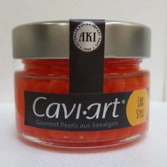 caviar vegano estilo salmón