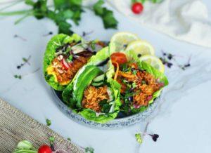 Atún vegano de Vantastic Foods en ensalada