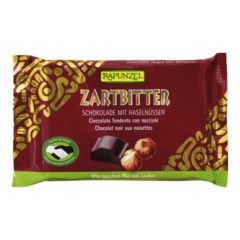 Rapunzel, chocolate negro con avellanas enteras Bio100g