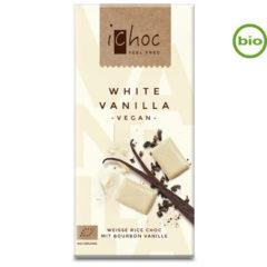 chocolate blanco vegano ecológico con leche de arroz y con vainilla