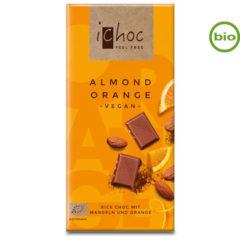 chocolate vegano con leche de arroz de almendras y naranja