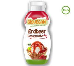 Salsa hecha de fresas vegana y ecológica Biovegan