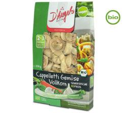 D´Angelo pasta vegana, integral y ecológica rellena de verduras