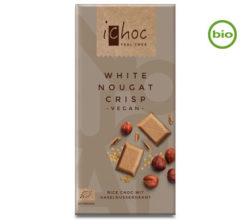 Chocolate blanco con avellanas crocante iChoc