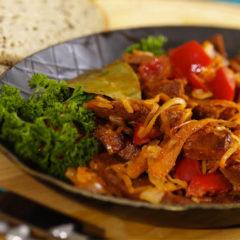 Carne vegana estilo griego de wheaty