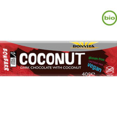 Bonvita, barrita de coco con chocolate negro