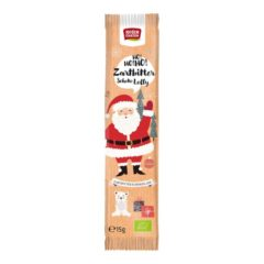 Santa Klaus de Chocolate Negro chupachús Bio