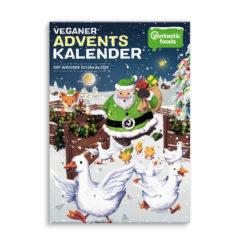 Chocolatinas veganas de Vantastic Foods en un calendario de adviento