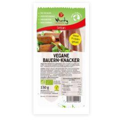 Salchichas veganas estilo rústico