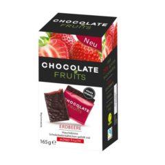 Láminas de chocolate vegano rellenas de fresa