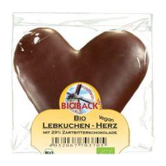 Corazón con chocolate negro, Bio, 42g